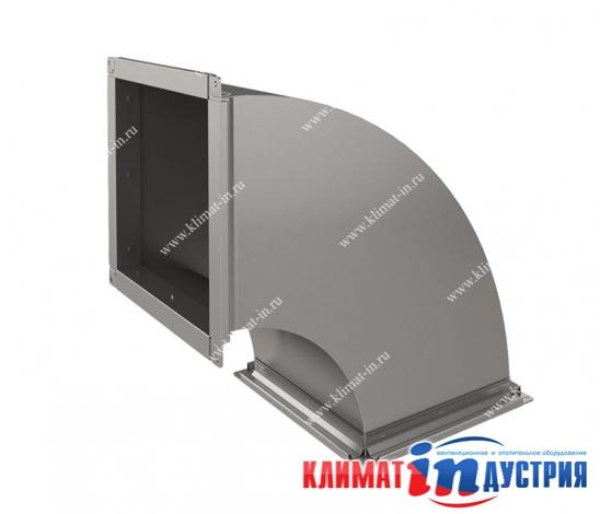 Отвод прямоугольный 45°, отвод прямоугольного сечения 90°