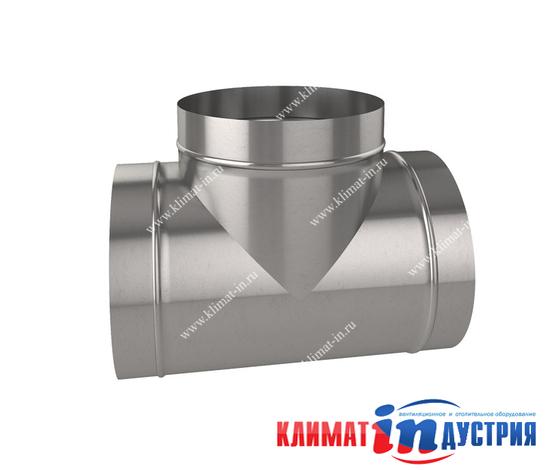 Тройник круглый для воздуховода из оцинкованной и нержавеющей стали