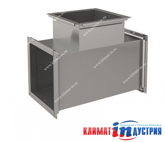 Тройник прямоугольный для воздуховода из оцинкованной и нержавеющей стали