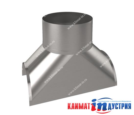 Врезка круглая воротниковая для воздуховода из оцинкованной и нержавеющей стали